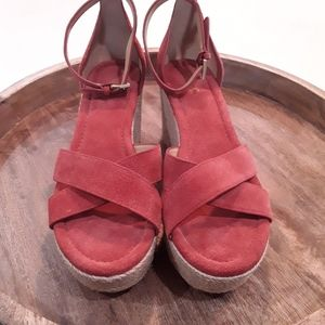 Michael Kors| NWT Suede Strappy Espadrille Wedges